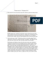 Sarah Riegel - UWRT 1103 Navigating Genres Reading Response