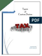 Types of Custom Duties
