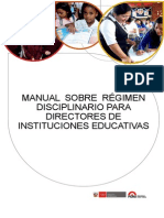 07 - Manual Sobre Régimen Disciplinario Para Directores de IEP - MINEDU 2013 - 40 Pag