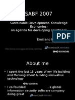 EK - SABF 2007- Knowledge Economy and Sustainable Development-August07-Comp