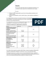 Sedimentación Primaria en potabilizacion