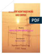 Intelligent Agent Based Micro Grid Control