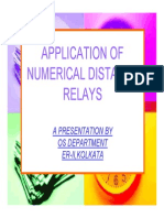 Application of Numerical Distance Relay