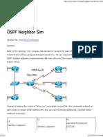 CCNA Training » OSPF Neighbor Sim