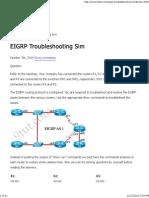 CCNA Training » EIGRP Troubleshooting Simulation