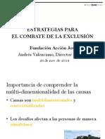 Andrés Valenciano - Estrategias para el Combate de la Exclusión