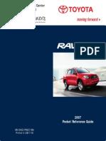 TOYOTA RAV4 2007 Notice Rapide PDF