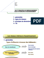 Conception Et Principes de Dimensionnement Des Reseaux Interieurs d'Assainissement