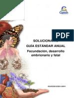 (14)2014 Solucionario Guía Fecundación Desarrollo Embrionario y Fetal