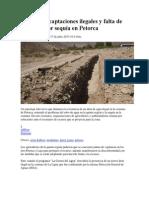 Captaciones Ilegales y Falta de Embalses Por Sequía en Petorca