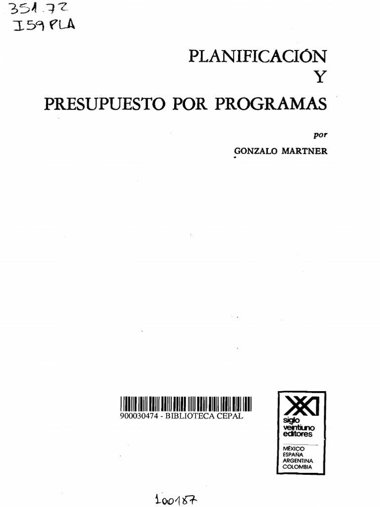 Planificación y Presupuesto Por Programas