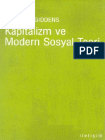 Anthony Giddens-Kapitalizm Ve Modern Sosyal Teori