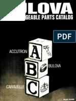 Bulova Interchangeable Parts Catalog - Fastest