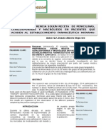 Opción de compra de medicamentos tipo penicilinas, cefalosporinas y macrólidos