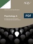 AQA GCE Psychology A Specification