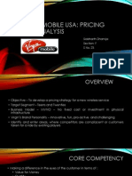 Virgin Mobile USA Pricing First Time Case Analysis