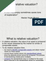 1 Relative Valuation