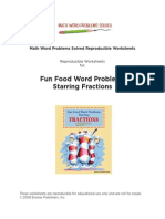 Fun Food Word Problems Starring Fractions