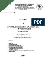 Syllabus de Informatica Medica - MH - 2014 II Final - MOD