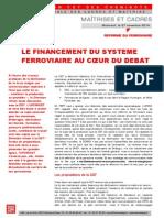 LE FINANCEMENT DU SYSTEME  FERROVIAIRE AU CŒUR DU DEBAT