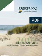 Spiekeroog 2010 Gastgeberverzeichnis