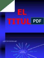 El Titulo
