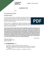2005 Franceza Nationala Subiecte Clasa a IX-A 0