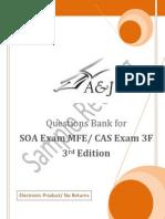 A&J Questions Bank for SOA Exam MFE/ CAS Exam 3F