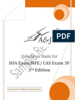 A&J Questions Bank for SOA Exam MFE/ CAS Exam 3F