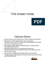 Type Kydney Stone