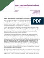 Bishop's Pastoral Letter for November 2014