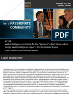 1202 Web Intelligence in Mobile BI the Wahoo Effect How to Best Design Web Intelligence Reports for the Mobile BI App