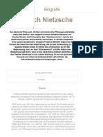 Friedrich Nietzsche - Biografie WHO's WHO