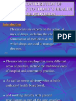 The Contribution of Pharmacy