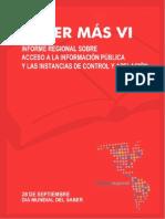 Saber Mas VI Informe Sobre Acceso a La Informacion Publica y Las Instacias de Control y Apelacion