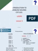 CST1101 F14 Lesson 5