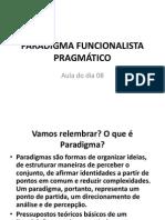 PARADIGMA FUNCIONALISTA PRAGMÁTICO