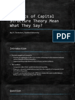 Do Tests of Capital Structure Theory Mean What They Say?
