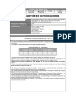Plan de Gestion Comunicaciones ...