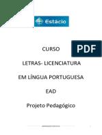PPP Ead Letras Licenciatura Língua Portuguesa