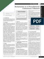 ART 124Reclamacion en El Procedimiento Contencioso Tributario