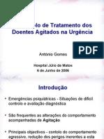 protocolo de tratamento de doentes agitados - congresso hjm
