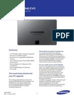 DataSheet-Samsung SSD 840 EVO Rev11