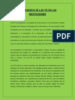 LA PRESENCIA DE LAS TIC EN LAS INSTITUCIONES.docx