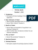 kahoot workshop agenda