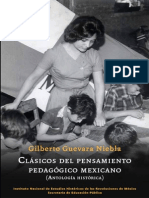 Antología Clasicos Del Pensamiento pedagogico mexicano