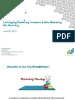 Leverage Market Mix Modeling