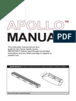 Feniex Apollo Series Operators Manual