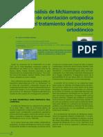 El Analisis de McNamara Como Metodo de Orientacion Ortopedica en El Tratamiento Del Paciente Ortodoncico