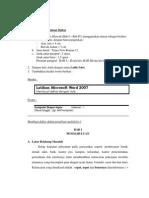 Pembuatan Daftar ISI dalam Laporan